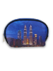 Twin Towers Night View Pouch Bag